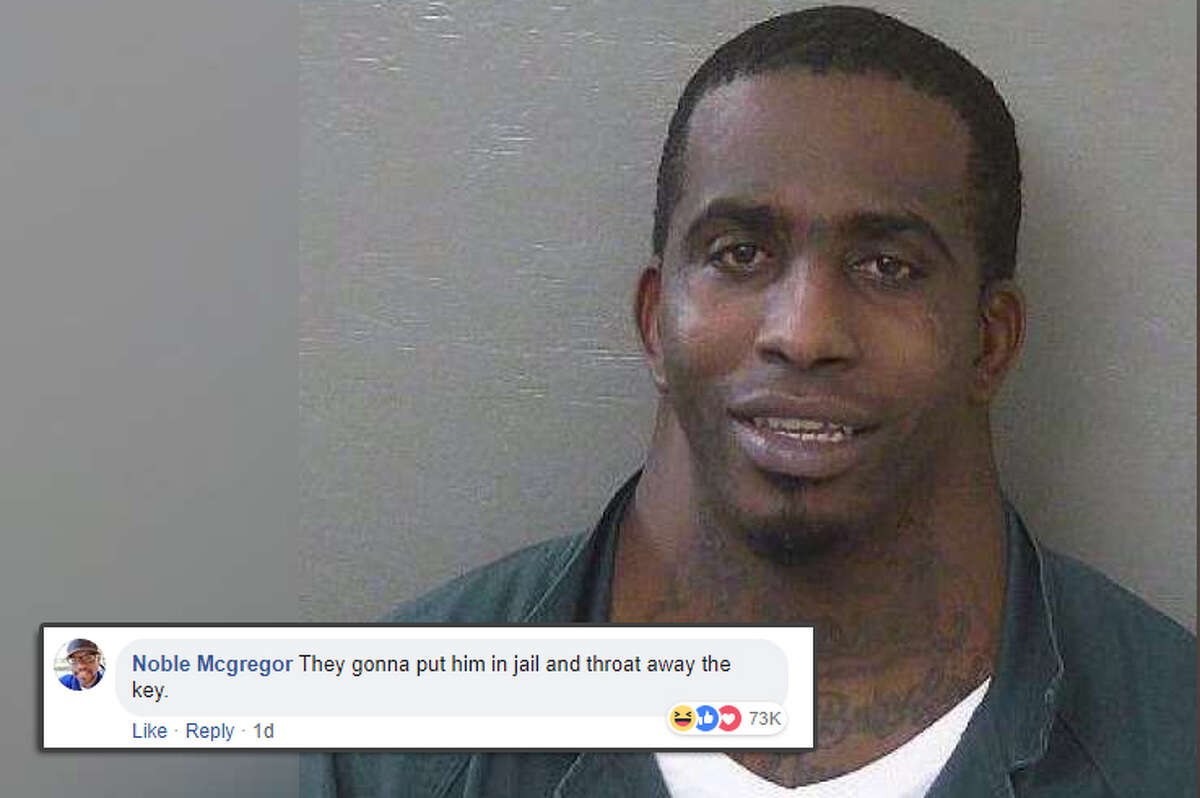 """""""They gonna put him in jail and throat away the key."""" Social media commenters had a field day when a mugshot of a man posted on the Escambia County (Florida) Sheriff's Office page went viral. Source: Escambia County Sheriff's Office/Facebook"""