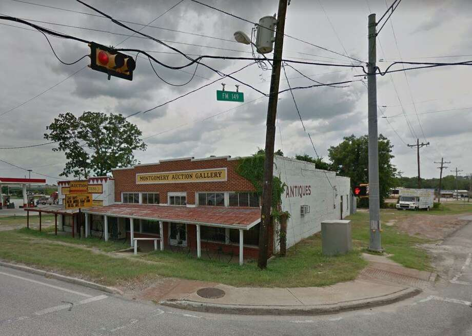 The Montgomery Auction Gallery is expected to be demolished within the next month to make room for a new turn lane at the intersection of Texas 105 and FM 149. It has been vacant for a year and a half and served as an old grocery story in the 1940s and 1950s. Photo: Submitted Photo / Submitted Photo