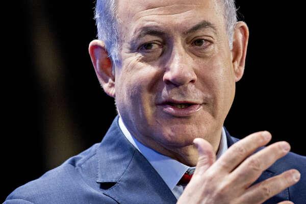 Israeli Prime Minister Benjamin Netanyahu speaks at the Economic Club of Washington in Washington on March 7, 2018.