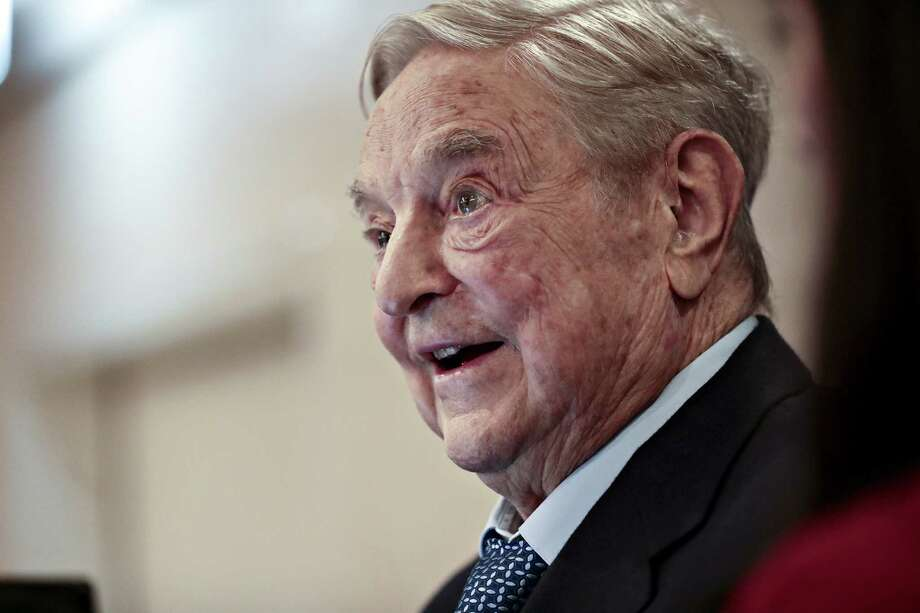 Philanthropist George Soros says the targets of his $1 billion education effort are the two greatest threats to civilization. Photo: Bloomberg Photo By Simon Dawson / © 2018 Bloomberg Finance LP