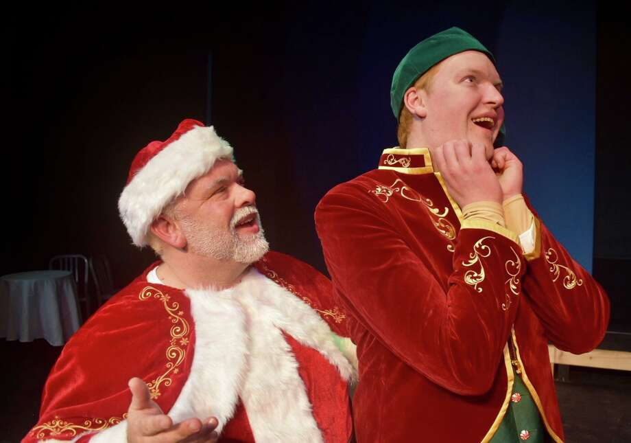 "Daryl Berry plays Santa Claus with Colby Padgett as Buddy in Midland Community Theatre's ""Elf the Musical."" Photo: Courtesy Photo"
