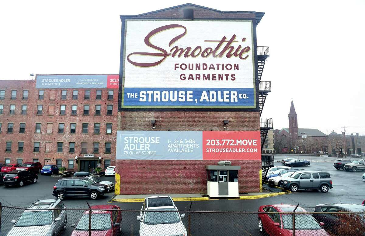 The Smoothie Building in New Haven photographed in 2015.