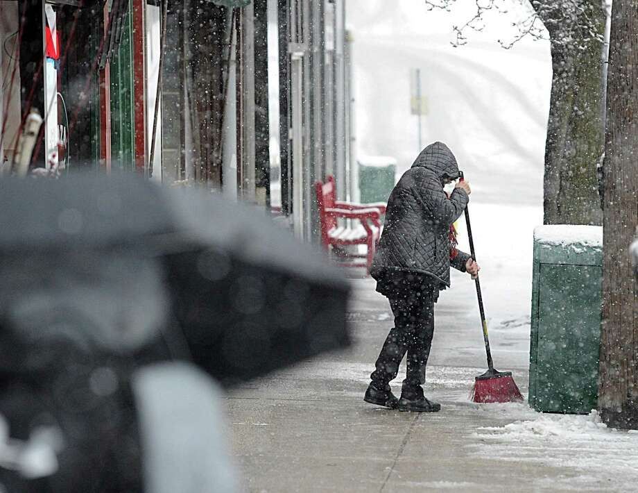 The first snowstorm of the season is expected to hit Greenwich on Thursday. Photo: File / Greenwich Time