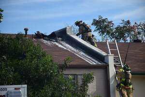 More than 20 San Antonio Fire Department units responded Thursday to a blaze at a townhome on the Northwest Side.