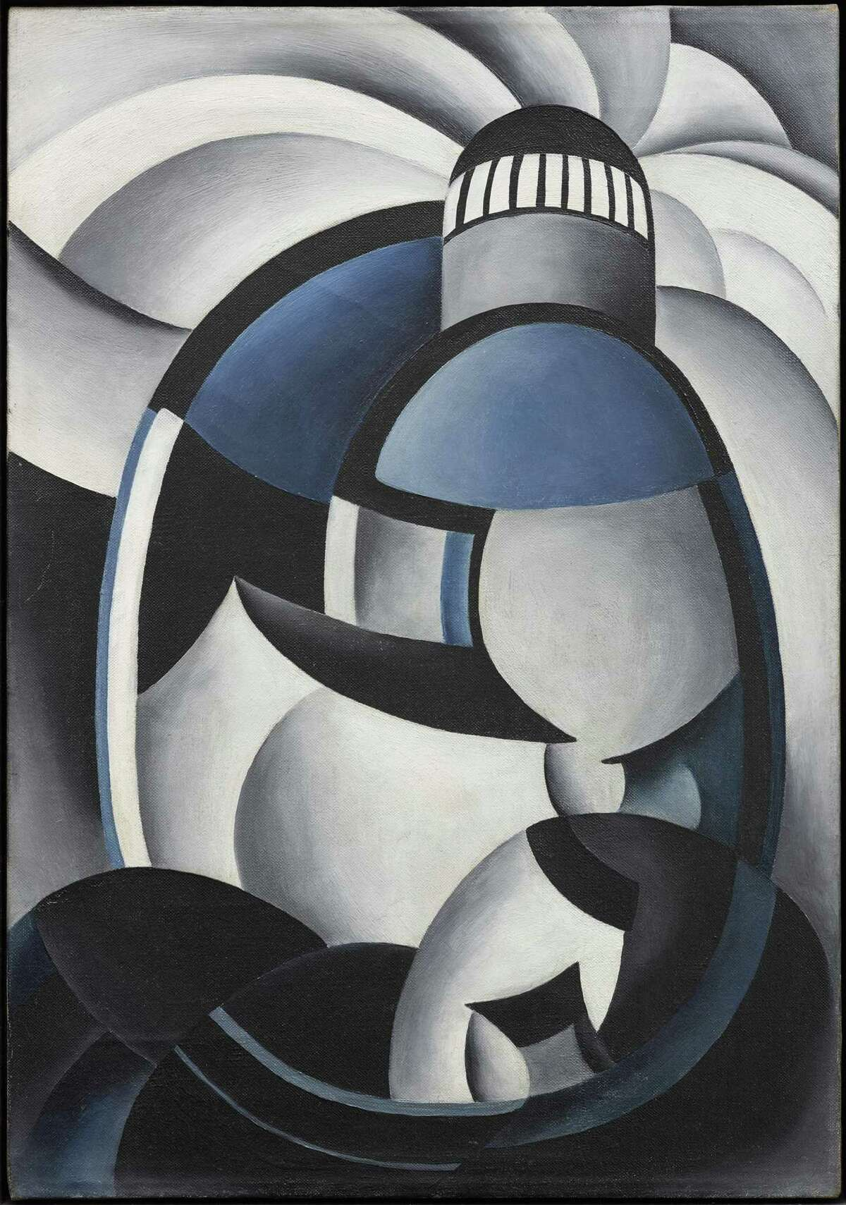 """Ida Ten Eyck O'Keeffe's """"Variation on a Lighthouse Theme II,"""" c. 1931-32, oil on canvas, is among works on view in the artist's first solo museum show, """"Escaping Georgia's Shadow"""" Nov. 18-Feb. 24."""