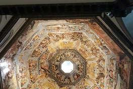 The frescoes inside Florence's Basilica di Santa Maria del Fiore, a.k.a. the Duomo, require a bit of neck straining.