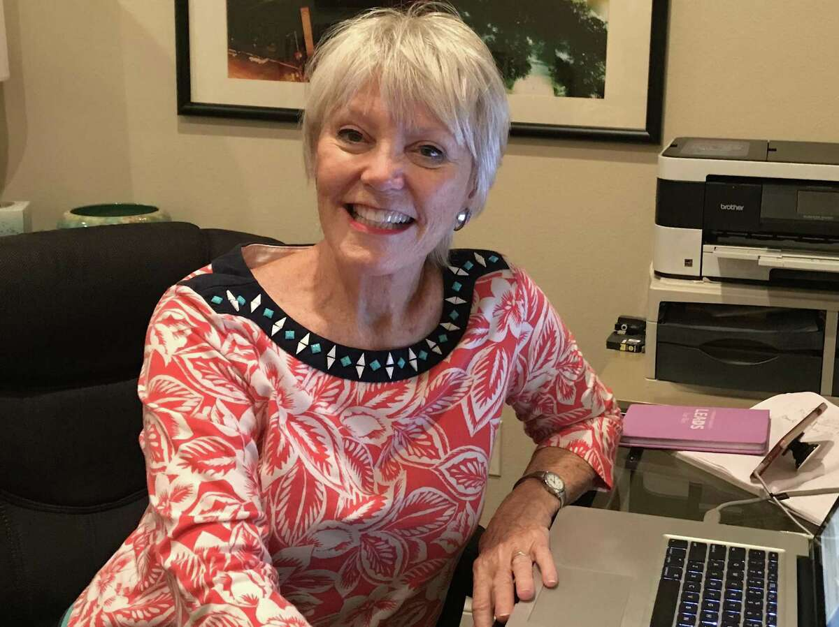 """Linda Bond, whose novel """"Saving the Oldest Town in Texas"""" explores the Wettermark bank scandal, lived in Nacogdoches for 14 years. She now lives in San Angelo, where her husband is Chamber of Commerce president."""