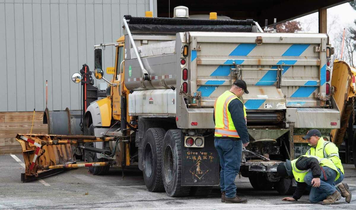 Drivers check their trucks in preparation for the forecast snow storm at the NYS DOT terminal on Route 155 Thursday Nov. 15, 2018 Latham, N.Y. (Skip Dickstein/Times Union)