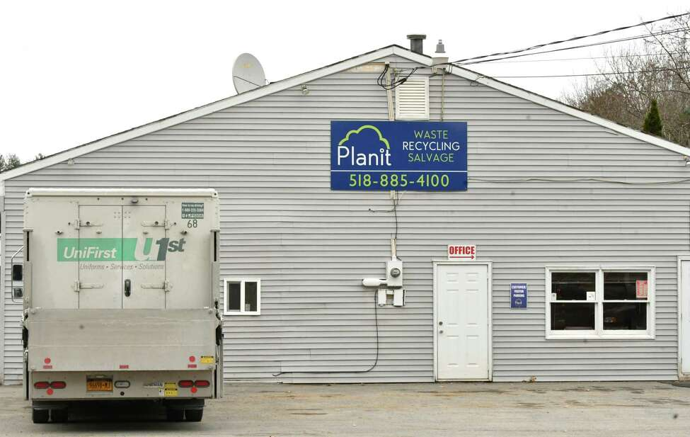 Exterior of Plan It Waste, Recycling & Salvage on Thursday, Nov. 15, 2018 in Ballston Spa, N.Y. Kim White and other neighbors like Regine Brate are complaining about the noise of the operation. (Lori Van Buren/Times Union)
