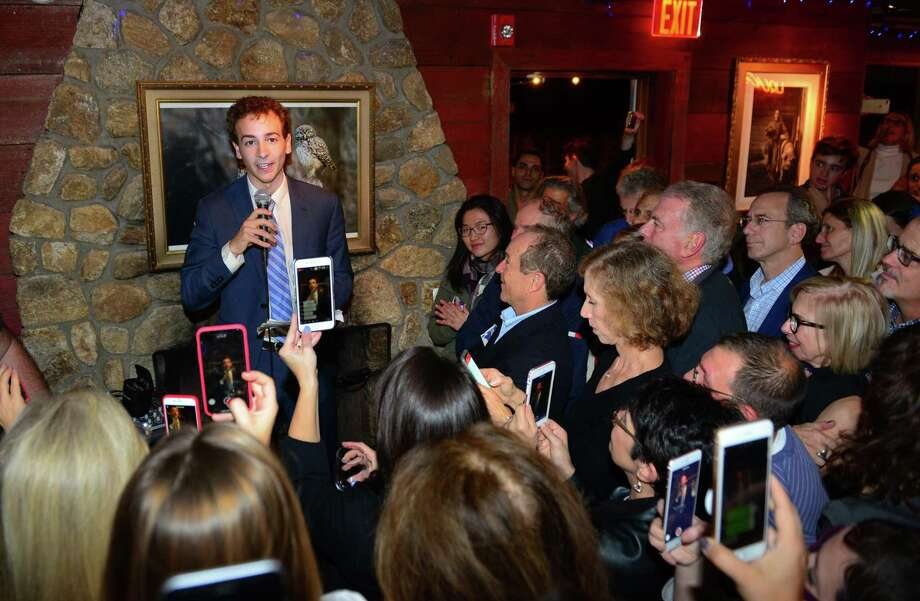 Democrat Will Haskell, Democratic candidate for State Senate, gives his acceptance speech during a post election party at the Little Barn in Westport, Conn., on Tuesday Nov. 6, 2018. Haskell defeated Republican incumbent Toni Boucher. Photo: Christian Abraham / Hearst Connecticut Media / Connecticut Post
