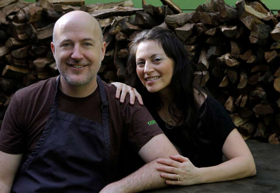 Brett Emerson and his wife Elan Emerson at Contigo. Photo: Paul Chinn / The Chronicle