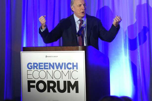 Bridgewater Associates Founder Ray Dalio speaks at the inaugural Greenwich Economic Forum investment conference, at the Delamar Greenwich Harbor hotel, in Greenwich, Conn., on Thursday, Nov. 15, 2018.