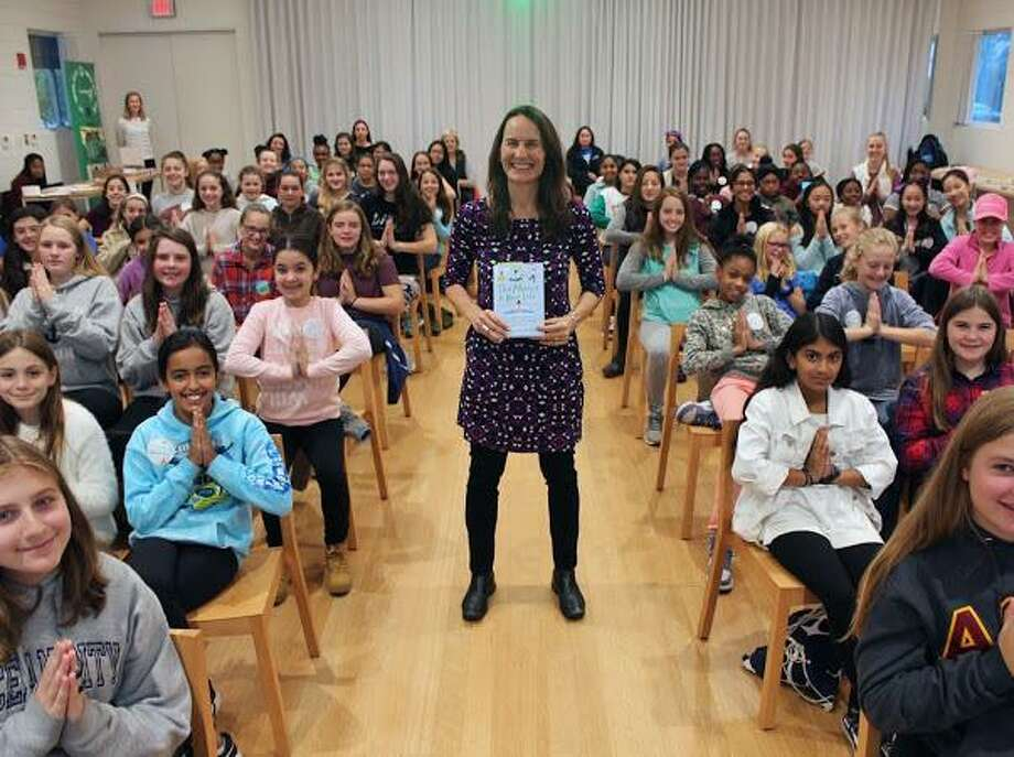 Author Mariam Gates attends the Girl Powerful Leadership Summit at Grace Farms in New Canaan on Nov. 6. Photo: Contributed Photo
