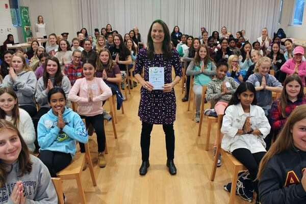 Author Mariam Gates attends the Girl Powerful Leadership Summit at Grace Farms in New Canaan on Nov. 6.