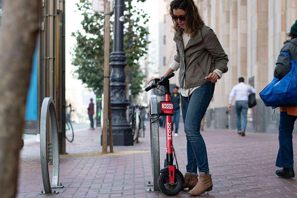 Scoot Networks is adding a built-in lock with a 32-inch cable to its San Francisco fleet of e-scooters. The Scoot app will unlock the two-wheelers.