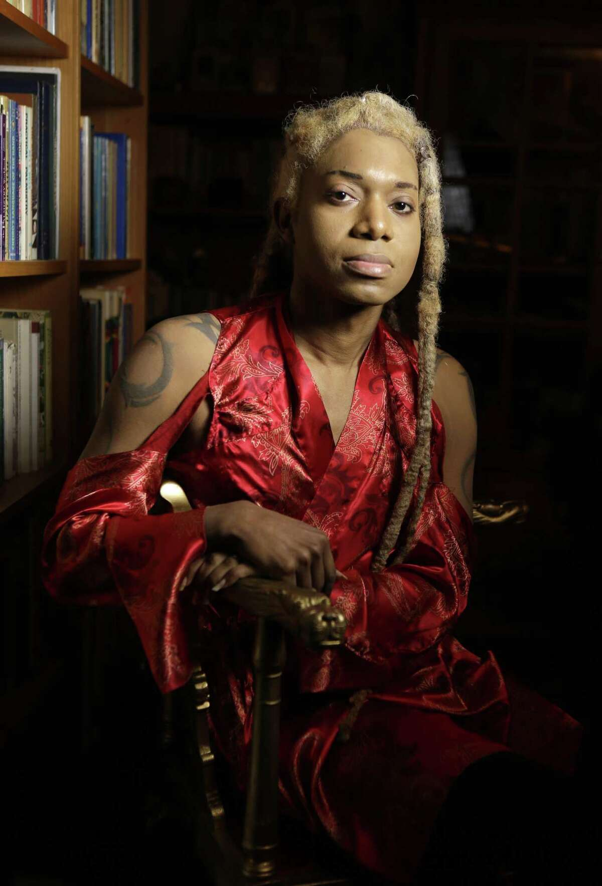 Tarik Rever is shown Sunday, Nov. 4, 2018, in Kingwood. He is a former dancer whose health issues forced him to stop. But he's still active in the community by helping non-profit organizations who provide shelter or aid to Houston's trans community.