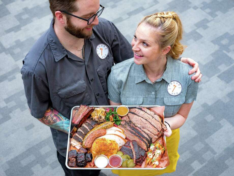 Husband-wife co-owners Patrick Feges and Erin Smith at Feges BBQ will open a second restaurant in Spring Branch in early 2021. Photo: Robert J. Lerma / Robert J. Lerma
