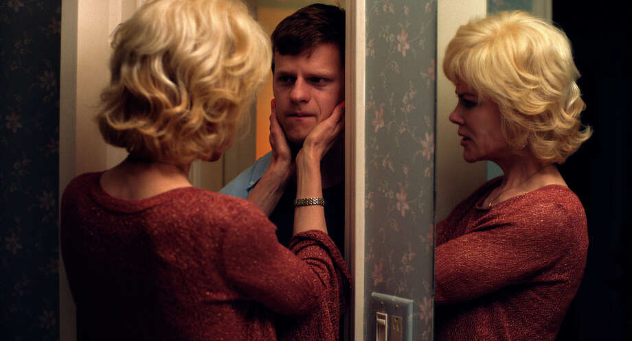 """This image released by Focus Features shows Nicole Kidman, left, and Lucas Hedges in a scene from """"Boy Erased."""" Hedges, 21, is everywhere this fall. The """"Manchester by the Sea"""" Oscar-nominated actor is starring in the upcoming gay conversion therapy drama """"Boy Erased,"""" as well as Jonah Hill's """"Mid90s,"""" and the addiction drama """"Ben Is Back,"""" alongside Julia Roberts. (Focus Features via AP) / © 2018 UNERASED FILM, INC."""