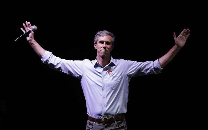 Rep. Beto O'Rourke, the 2018 Democratic candidate for U.S. Senate in Texas, makes his concession speech at his election night party in El Paso, Nov. 6. O'Rourke didn't turn Texas blue, but for the first time in decades, it's looking much less red.