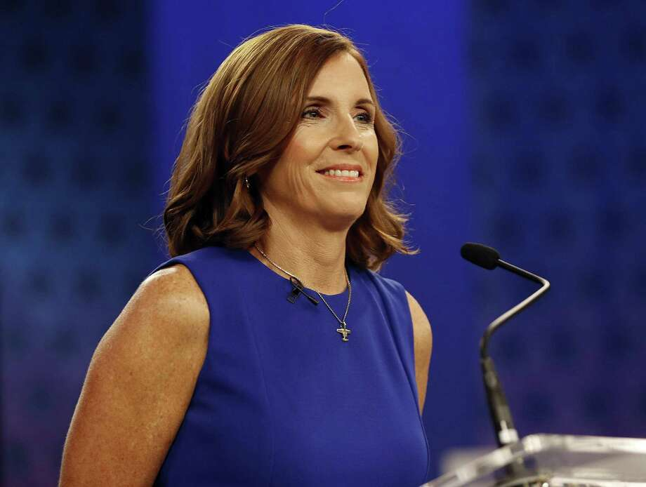 Though U.S. Rep. Martha McSally, R-Ariz., embraced President Donald Trump, she lost — arguably because she embraced Trump. Photo: Matt York /Associated Press / Copyright 2018 The Associated Press. All rights reserved.