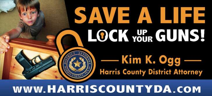 Officials hope two dozen billboards throughout the Houston area will help parents understand the importance of keeping their firearms safe and locked away.