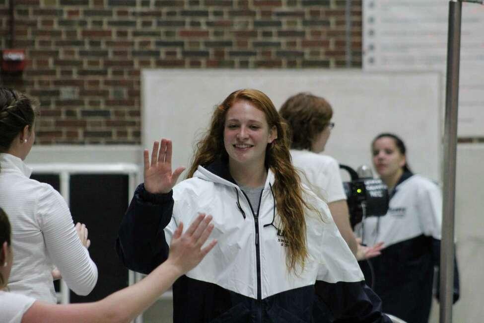 Albany Academy for Girls graduate Allison Stefanelli of the New Hampshire swim team. (Courtesy of New Hampshire University)