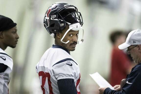 Houston Texans wide receiver Demaryius Thomas takes the practice field at The Methodist Training Center on Wednesday, Oct. 31, 2018, in Houston. Thomas was aquired by the Texans in an NFL trade deadline deal with the Denver Broncos.