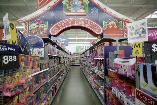One of many toy aisles is shown at Walmart, 1118 Silber Rd., Monday, Nov. 12, 2018, in Houston.