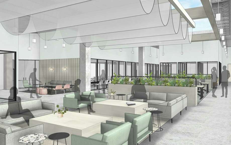 CommonGroundshas leased nearly28,000 square feet in Greenway Plaza. The coworking space will be integrated into The Hub, the central amenity area for the 4.9 million-square-foot office campus. Photo: Parkway Property Investments