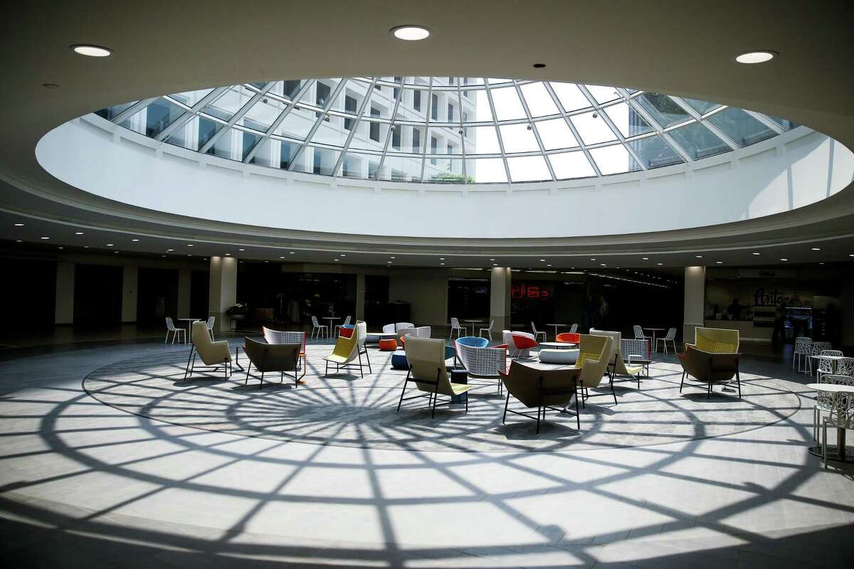 The Hub, Greenway Plaza's underground food court and amenity area, provides a gathering area for employees at the 4.9 million-square-foot business campus. Several technology tenants have leased space in Greenway Plaza recently.