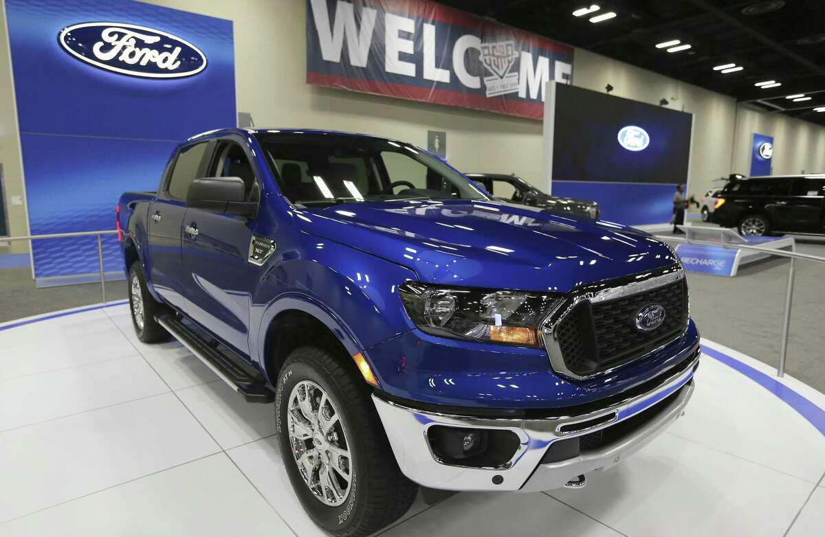 The newly redesigned Ford Ranger is on display at the 50th Annual San Antonio Auto & Truck Show.