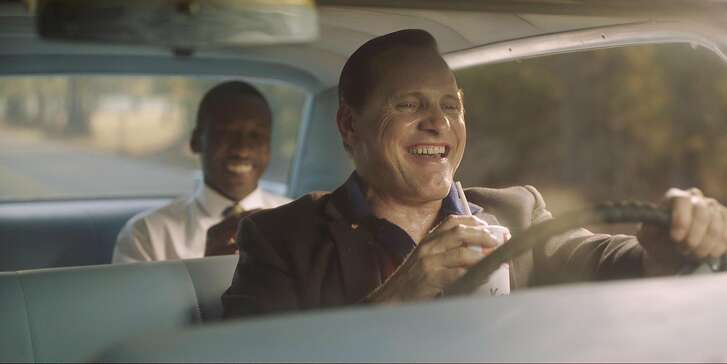 "Mahershala Ali as Don Shirley and Viggo Mortensen as Tony Lip in ""Green Book,"" directed by Peter Farrelly. MUST CREDIT: Universal Pictures"