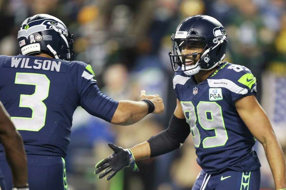 """What distinguishes Russell Wilson from other NFL quarterbacks in your eyes?  Baldwin: """"Well, I haven't been around a lot of other quarterbacks so I won't speak to the differences of those quarterbacks because I don't know those quarterbacks. But for Russ in general, one of the things that is admirable about him is that he's always positive. He always has a positive mindset. It doesn't matter what situation we're in, he's always talking about belief and thinking that no matter how negative the situation may appear, we have an opportunity to come out of it unscathed. It's infectious for our team and I think as the face of this franchise and the leader of our team, you've got to have that in order to be successful in any given situation. That, to me, is probably the greatest thing that stands out to me about Russ."""" Photo: GENNA MARTIN, SEATTLEPI.COM / SEATTLEPI.COM"""