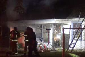 A home caught fire on Bretshire and Caddo Road on Friday, Nov. 16, 2018.