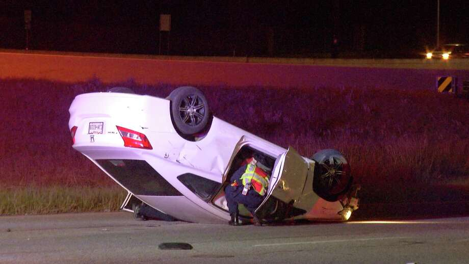 Police responded to the crash at about 2:10 a.m., Nov. 16, 2018, in the westbound lanes of the 9900 block of Interstate 10. Photo: Ken Branca