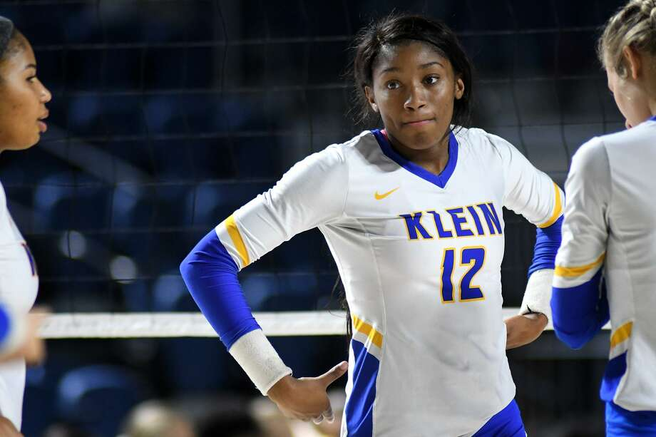 Klein senior outside hitter Nena Mbonu was among 40 players named to the 2018 Texas Girls Coaches Association Class 6A Volleyball All-State Team. Photo: Jerry Baker, Houston Chronicle / Contributor / Houston Chronicle