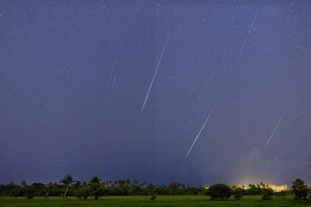 Geminid Meteor in the night sky of Penang Island