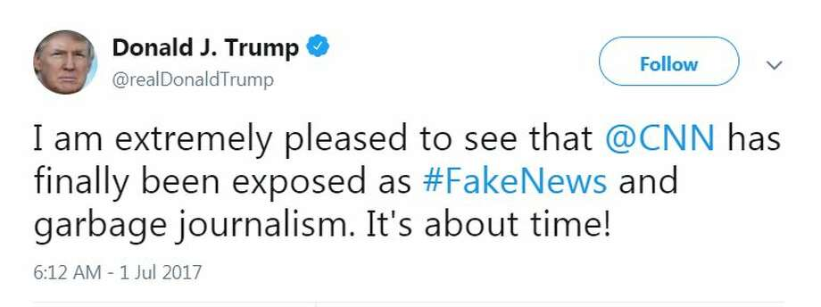 President Donald Trump's ongoing battle with CNN goes back years. Here are recent tweets slamming the news organization. Photo: Twitter