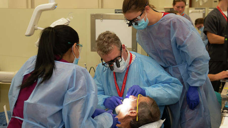 The SIU SDM provided free dental care during its inaugural Veteran's Care Day. Photo: For The Telegraph