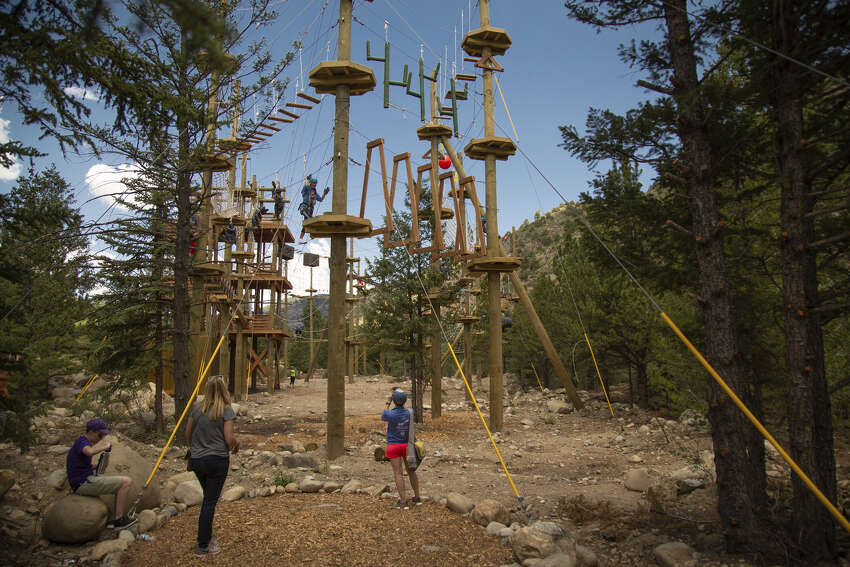 Woodlands: Texas TreeVenturesThe aerial adventure obstacle course is set to reopen June 6. Online reservations are required and guests are encouraged to wear masks.