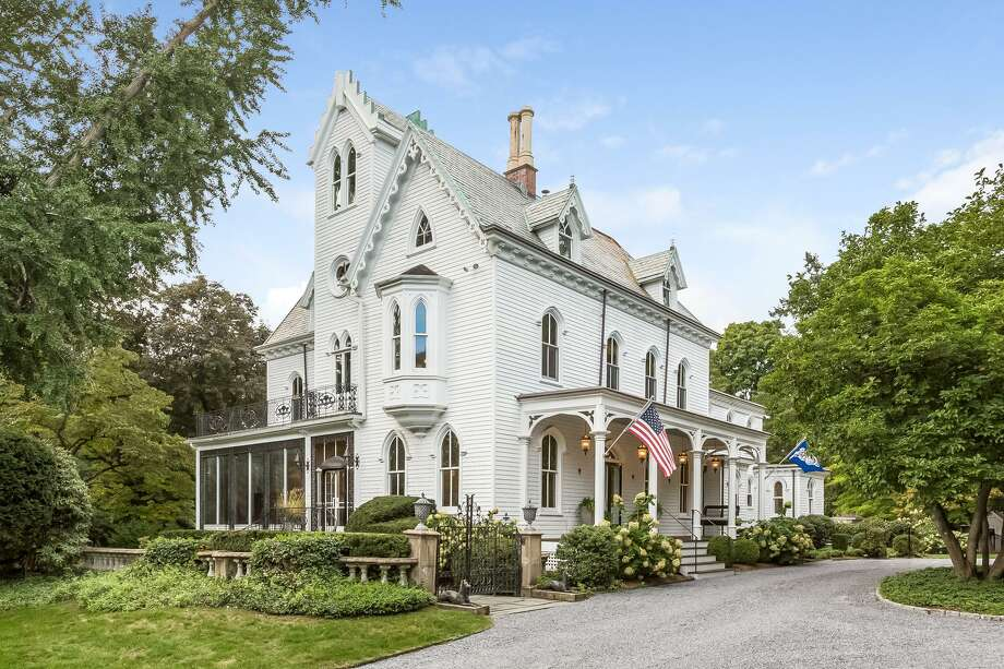 A major restoration project of the antique Gothic Victorian house at 2265 Boston Post Road preserved it period features inside and out while providing it with modern amenities. Photo: PlanOmatic / © 2018 PlanOmatic