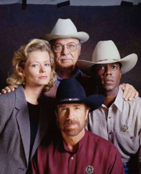 "Chuck Norris (center foreground) stars as modern-day Texas Ranger Cordell Walker, whose independent crime-solving methods have their roots in the rugged traditions of the Old West, in the action-drama series ""Walker, Texas Ranger."" Photo: TONY ESPARZA, Staff / CBS / CBS"
