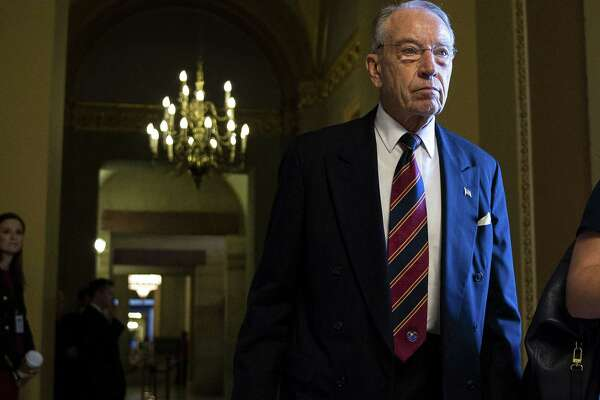Sen. Chuck Grassley, R-Iowa and chairman of the Senate Judiciary Committee, walks through the U.S. Capitol in Washington on Sept. 18, 2018.
