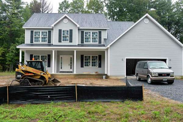 The Landers family's new home nears completion Tuesday Sept. 25, 2018 in Wilton, NY. (John Carl D'Annibale/Times Union)