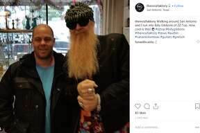 thenoizfaktory: Walking around San Antonio and I run into Billy Gibbons of ZZ Top. How cool is this!