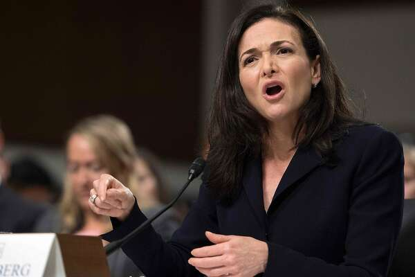 "(FILES) In this file photo taken on September 5, 2018, Facebook COO Sheryl Sandberg testifies before the Senate Intelligence Committee on Capitol Hill in Washington, DC. - Sandberg on on November 16, 2018, pledged a ""thorough"" review of a political consulting firm's work for the social network giant after one target criticized the techniques used as ""black ops."" Like founder Mark Zuckerberg, Sandberg has said she was unaware her firm was working with Definers Public Affairs, a Republican opposition research group. (Photo by Jim WATSON / AFP)JIM WATSON/AFP/Getty Images"
