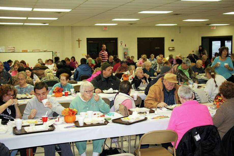 Over 200 people attended the 29th annual Thanksgiving Blessing Dinner Thursday at St. Hubert Parish's Oswald Hall in Bad Axe. (Seth Stapleton/Huron Daily Tribune)