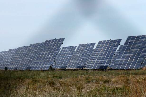 These are solar panels at the Alamo 6 Solar Farm in Pecos County, Texas built by San Antonio-based OCI Solar Power.
