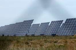 These are solar panels at the Alamo 6 Solar Farm in Pecos County, Texas built by San Antonio-based OCI Solar Power.