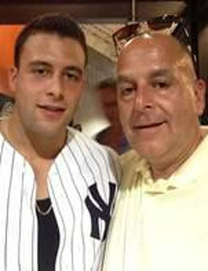 Joey and and his father, Pat Comunale. Photo: Contributed Photo / Stamford Advocate Contributed